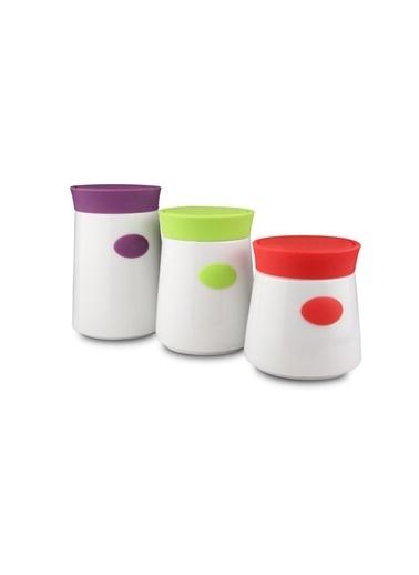 Kütahya Porselen 3 Parça Saklama Seti Renkli